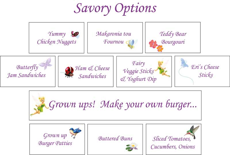 Fairy Party Food Recipes