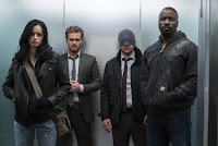 Krysten Ritter, Finn Jones, Charlie Cox and Mike Colter in The Defenders Series (13)
