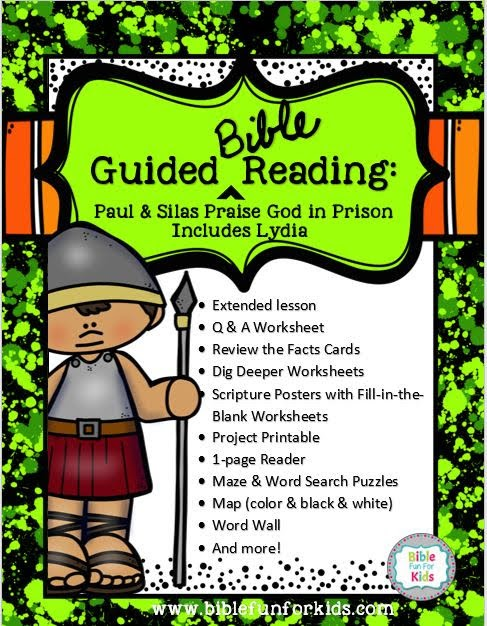 Bible Fun For Kids: Paul & Silas in Prison and Lydia