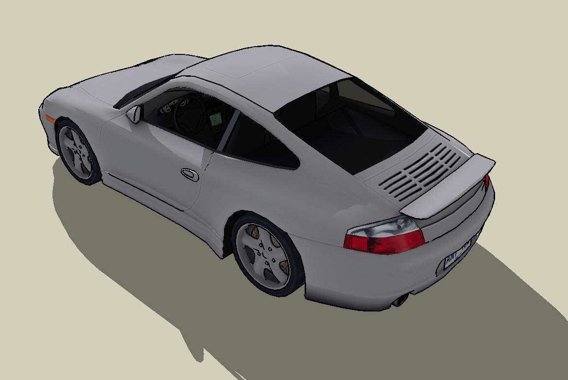 3d Model Of The Sports Car Porsche Sports Car Porsche
