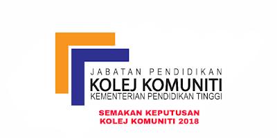 Semakan Keputusan Kolej Komuniti 2018 Online