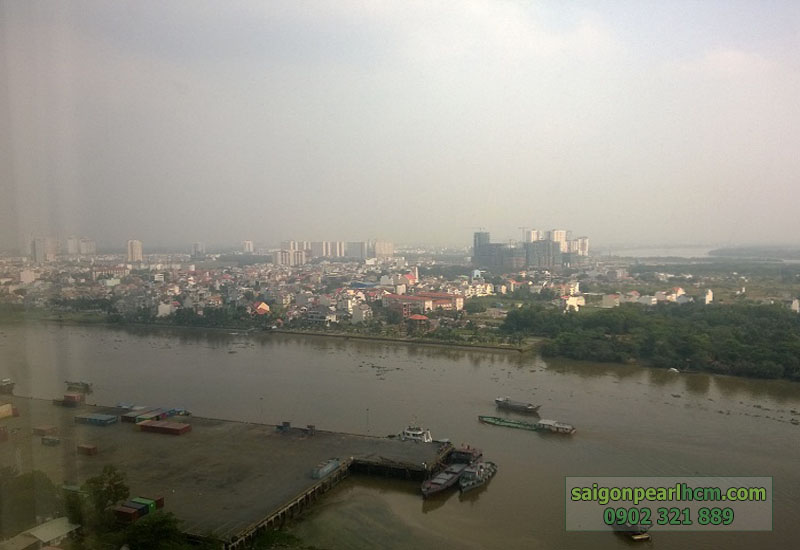 nhà trống tầng 23 Saigon Pearl Topaz 2 - view sông và quận 1