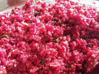 Хайвер от моркови и червено цвекло