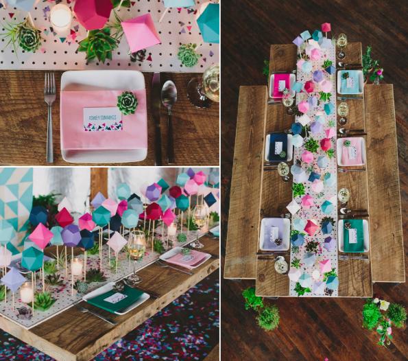 8 ideas para caminos de mesa diferentes - Caminos de mesa de papel ...