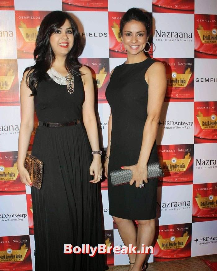 Neha Lulla, Gul Panag, Pics of Celebs in Sexy Dresses & Gowns at Gemfields & Nazraana Retail Jeweller India Awards 2014
