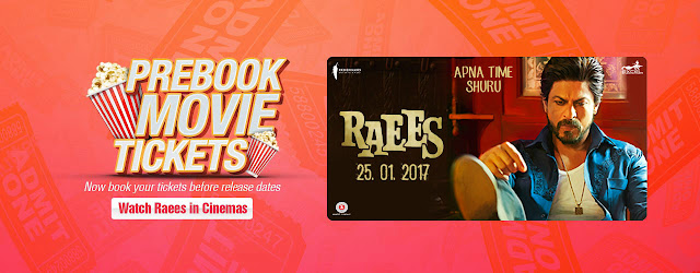 Raees Movie Tickets Advance Booking Online