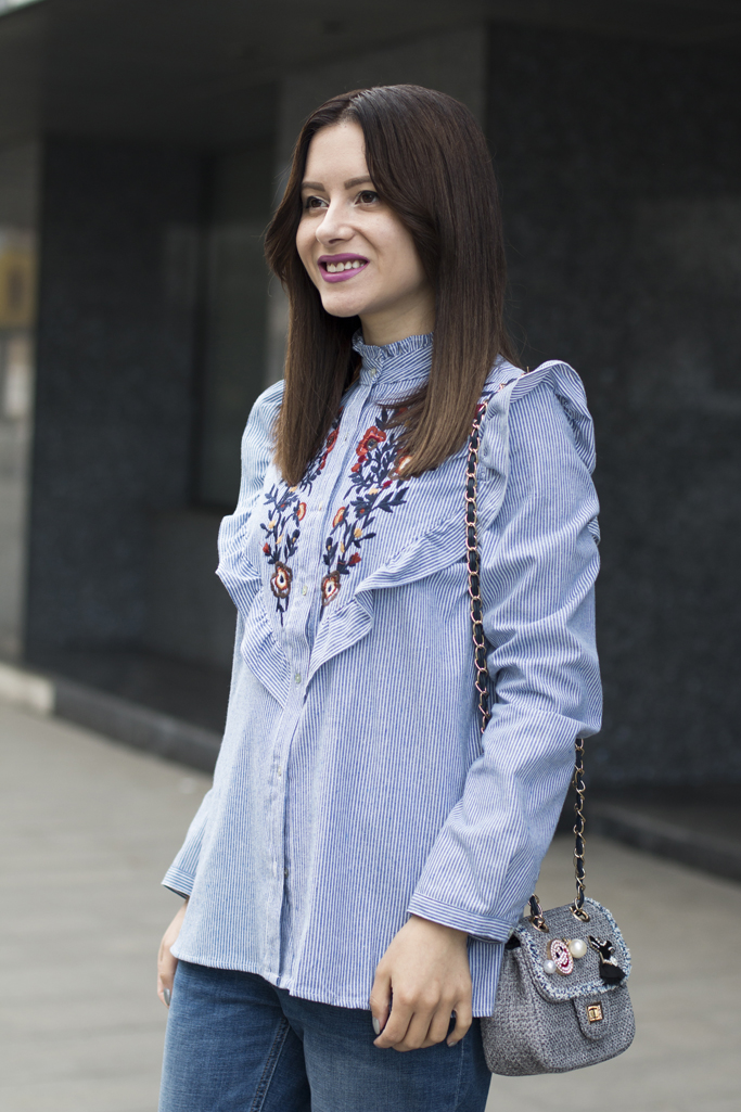 zaful embroidered shirt