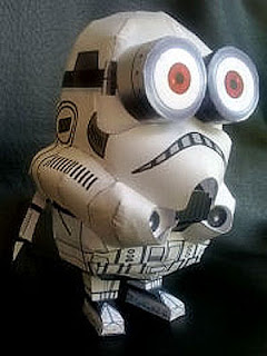 Star Wars Papercraft Storminion Model