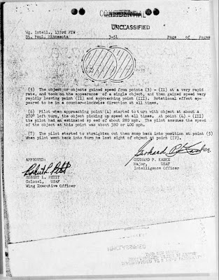 Astronaut Deke Slayton UFO Sighting Report (3 of 3)12-19-1951