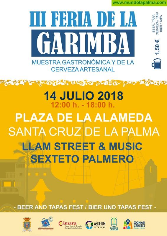 Santa Cruz de La Palma celebra este sábado la III Feria de la Garimba, la gran fiesta de la cerveza de elaboración artesanal