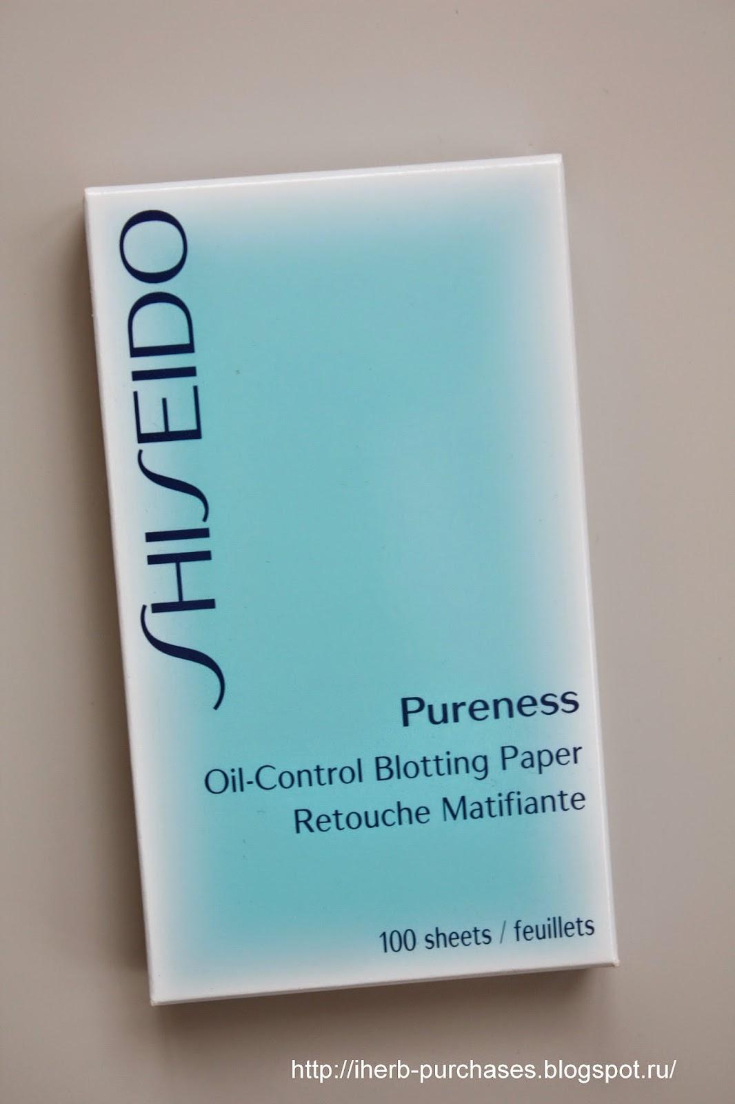 матирующие салфетки, Shiseido, жирная кожа, отзыв