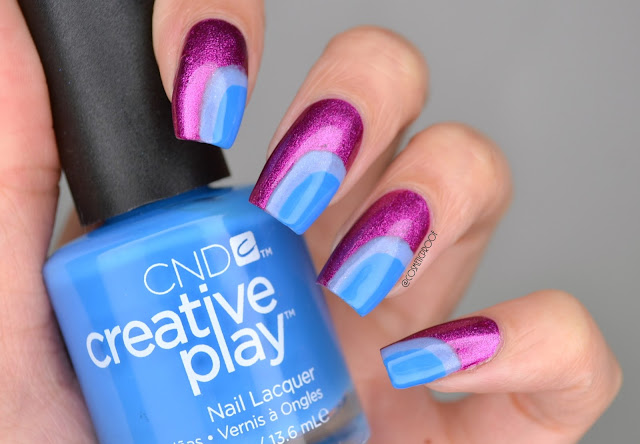 CND Creative Play Blue and Purple Nail Art