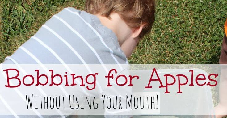 Bobbing for Apples for Toddlers | Sunny Day Family