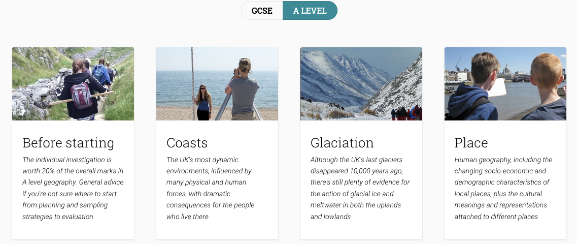 LivingGeography: FSC Geography Fieldwork resource