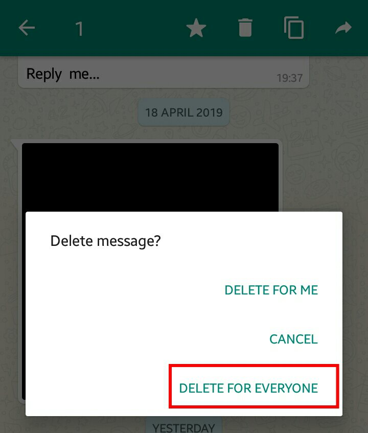 Delete Wrong Message in whatsapp