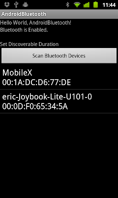 Scan Bluetooth Devices