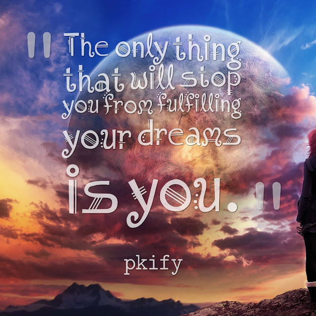 The Only Thing That Will Stop You from Fulfilling Your Dreams Is You Dreams Quotes
