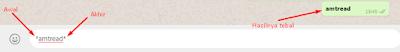 Tulisan tebal (bold) di whatsapp
