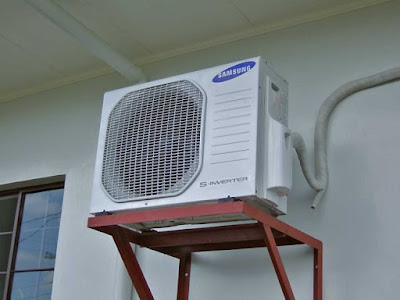 Lắp đặt dàn nóng máy điều hòa không khí - TPP Việt Nam
