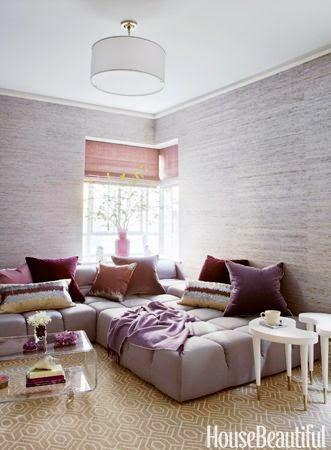 pastel purple sofa