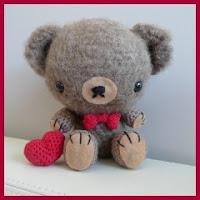 Mini oso de San Valentín