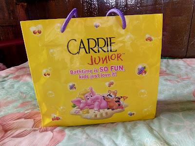 Keriangan berterusan dengan Carrie junior Funtime Wipes