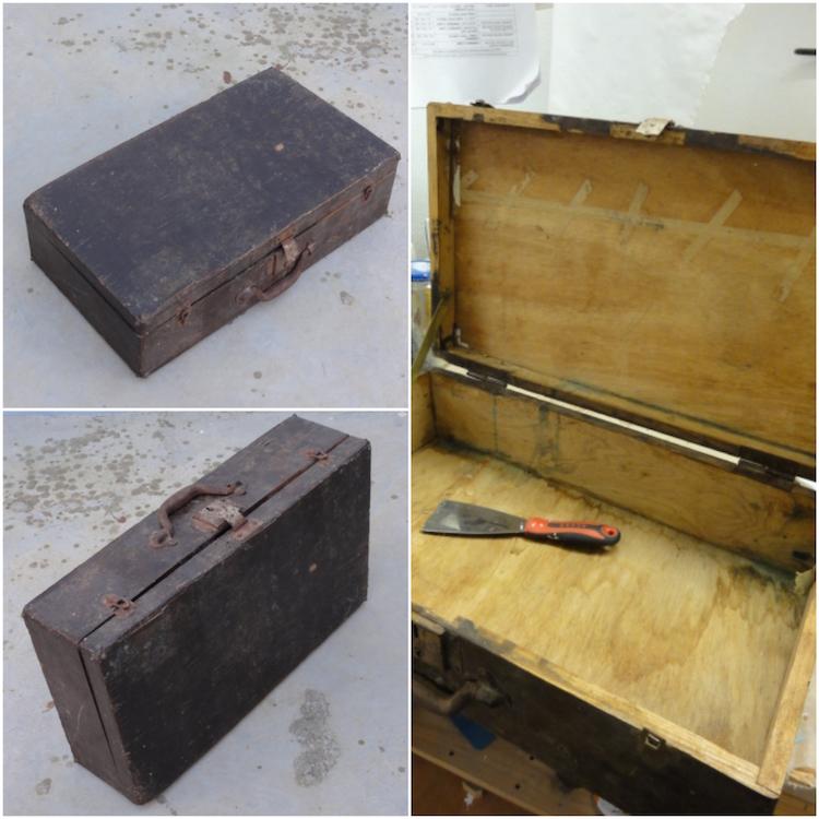 DIY maleta vieja que se transforma en armario de baño