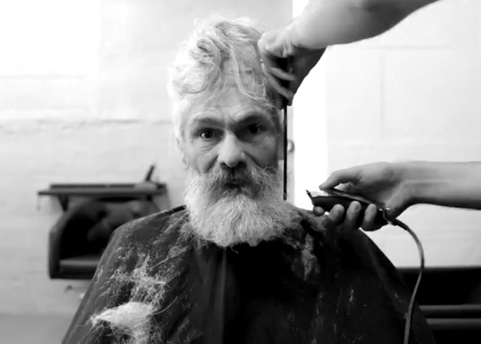 The salon, which was celebrating three years in business, wanted to use their talents to do something special for the man locals call Josete.. - Homeless Man's Unbelievable Makeover is a Life-Changing Transformation