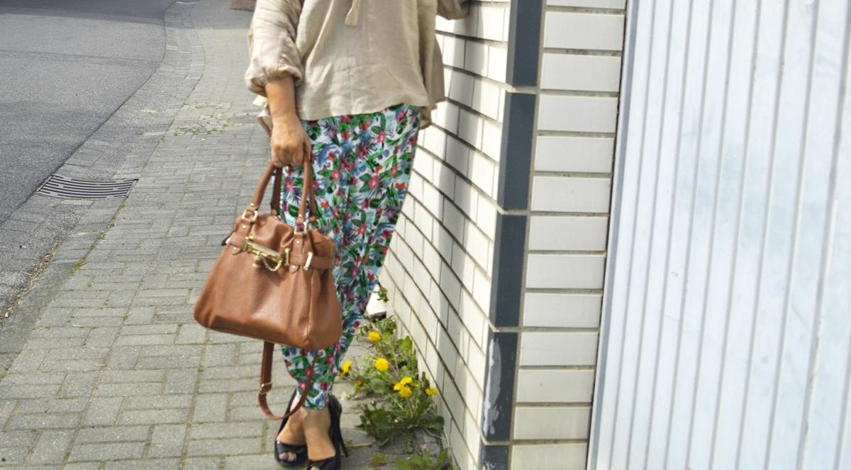 Harem pants & blouse Outfit Photo Details