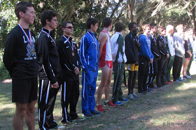 Top 15 Boys, 2016 FHSAA 3A District 3 Cross-Country Championships