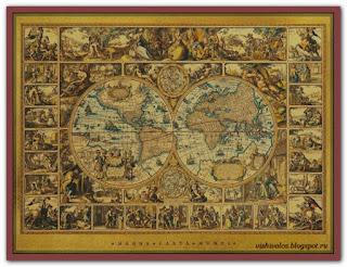 """""""MCM Olde World Map"""" Tilton Crafts"""