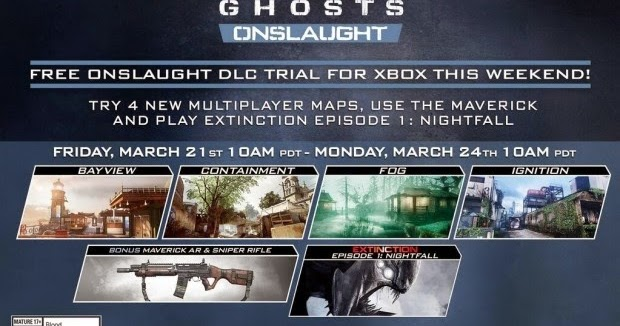 Call of Duty: Ghosts Onslaught DLC Pack 1 Free Trial Starts ... Call Of Duty Ghosts Maps Packs on call of duty 3 zombies maps, call of duty world war 3, call of duty texture pack, cod ghosts new personalization packs, call of duty ghost tour, call of duty advanced warfare supply drops, call of duty new release 2014, call of duty extinction map, call of duty black ops zombies ps3, call of duty zombies map packs, advanced warfare map packs, call of duty black ops verruckt, call of duty black ops escalation map pack, call of duty ghosts expansion packs, call of duty ghost camera, cod ghost map packs, call of duty ghost pre owned, call of duty black ops 2 bacon camo, call of duty 5 maps, call of duty black ops zombies toys,