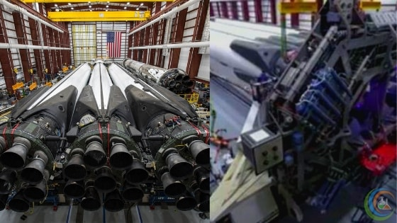 SpaceX Assemble of Falcon Heavy Rocket