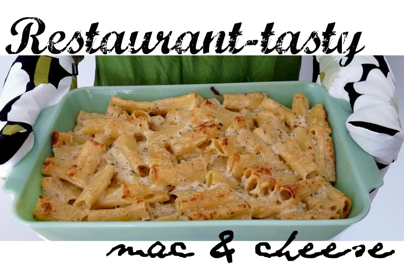 Easy gourmet mac & cheese recipe