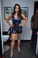 Sanjana looks happy in sparkling short Deep neck Purple Gown ~  Exclusive 60.JPG