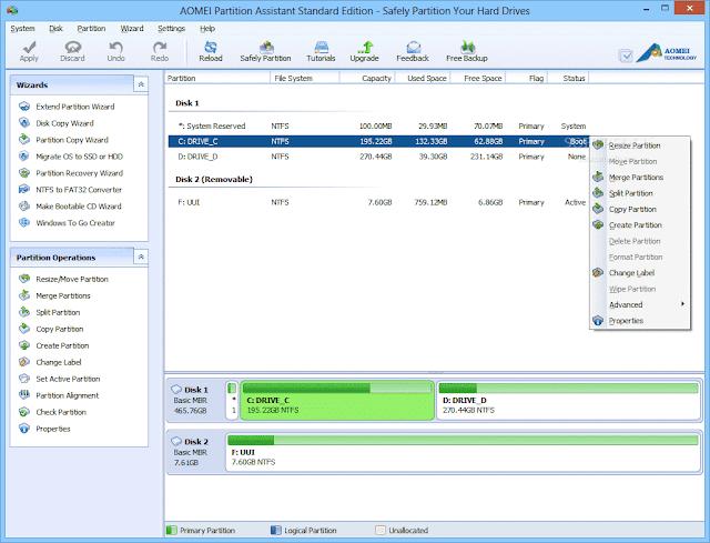 Aplikasi Partisi Manajer Terbaik Untuk Windows