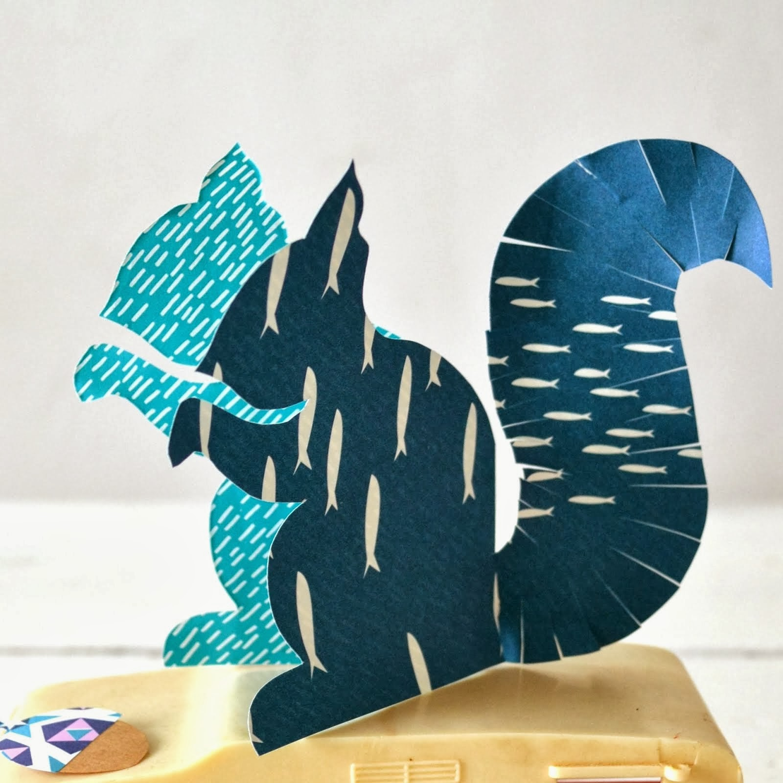 DIY paper squirrel