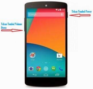 Cara Screen Shot Layar Android LG Nexus 5