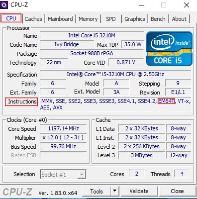Kiểm tra CPU có hỗ trợ chạy Win 64bit hay không