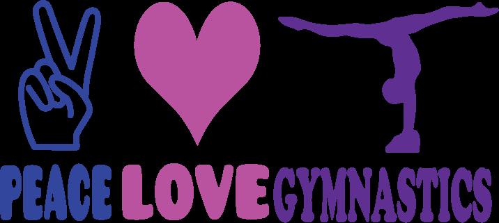 Download T-shirt logo design creative ideas: Peace Love Gymnastics ...