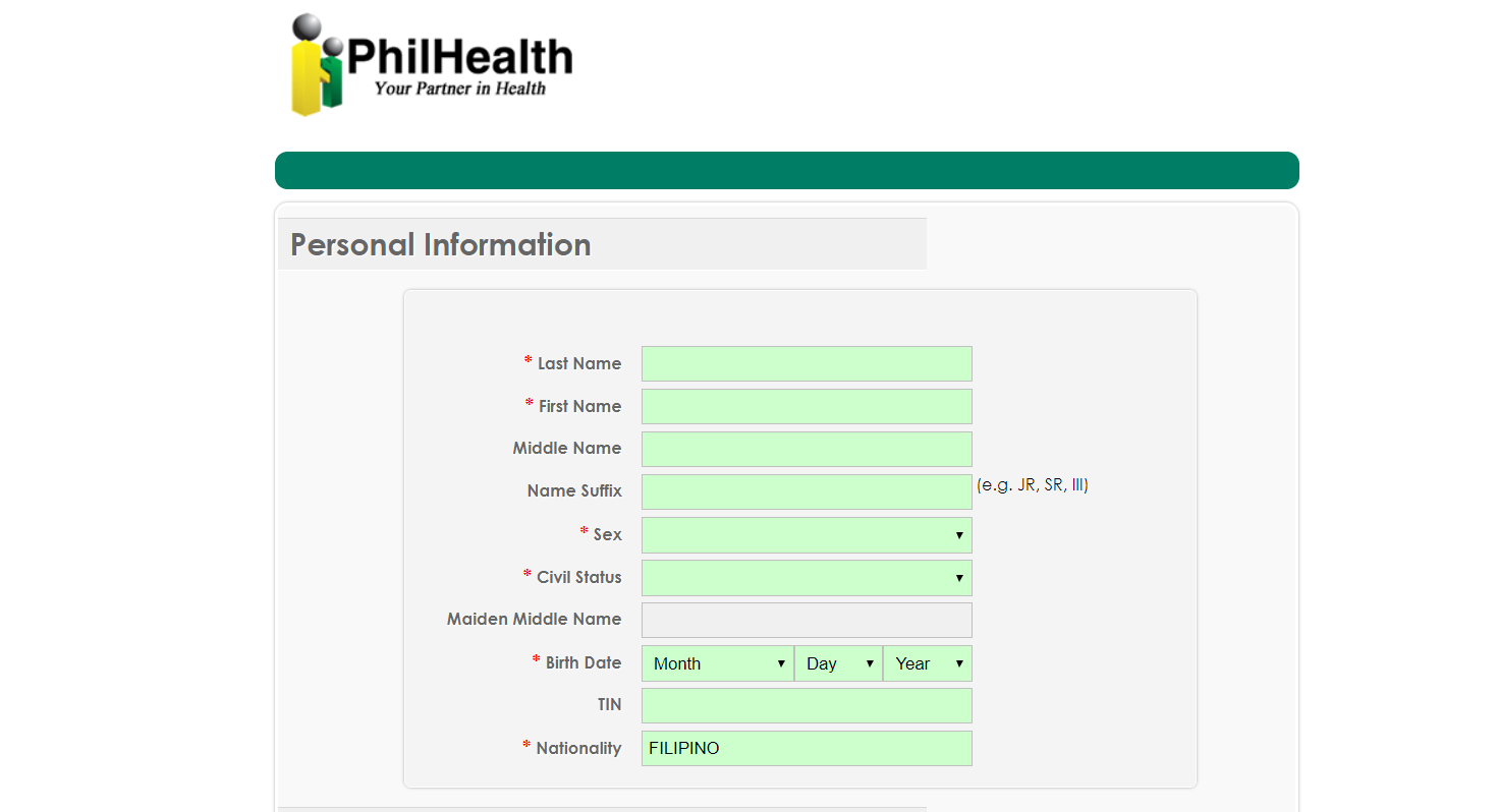 PhilHealth Online Registration