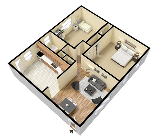 Stylish%2BModern%2BHome%2B3D%2BFloor%2BPlans%2B%25283%2529 Stylish Home 3D Floor Plans Interior