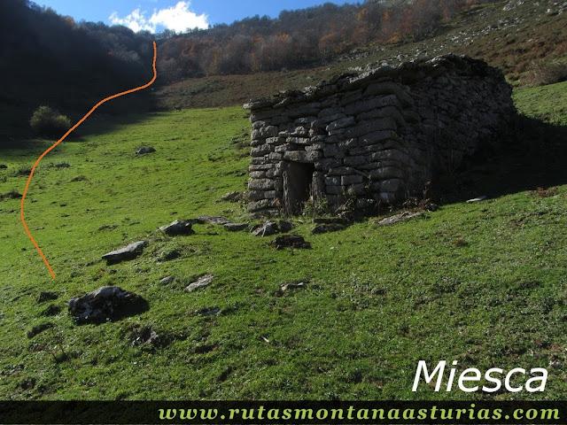 Ruta Víboli Peña Subes y Sen Mulos: Miesca