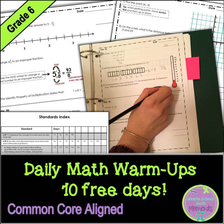 Middle School Math Moments (and more!): Freebies