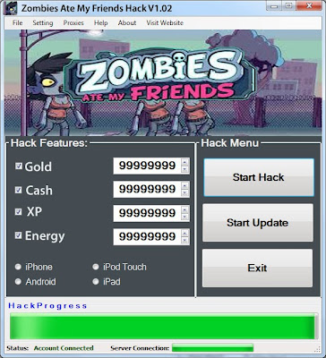 Download Free Zombies Ate My Friends (All Versions) Hack Unlimited Gold,Cash,XP,Energy 100% working and Tested for IOS and Android MOD.