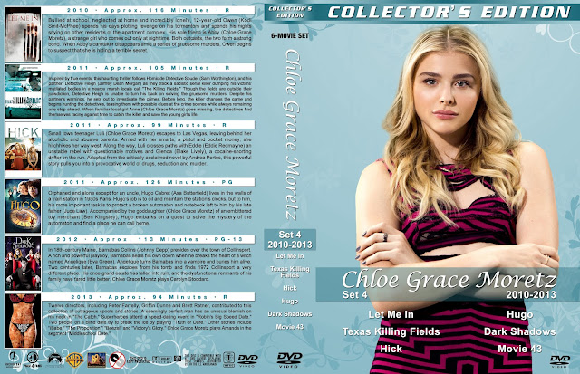 Chloe Grace Moretz Collection Set 4 Large Spine DVD Cover