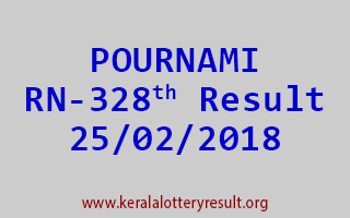 POURNAMI Lottery RN 328 Results 25-02-2018