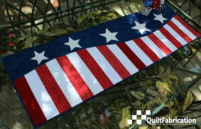 Patriotic Wave Table Runner for the Fourth of July