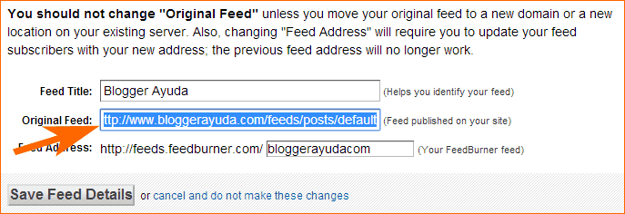 FeedBurner - Feed original