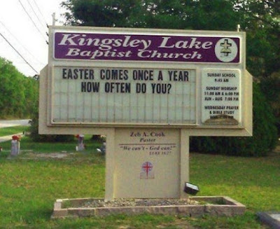 Easter comes once a year.